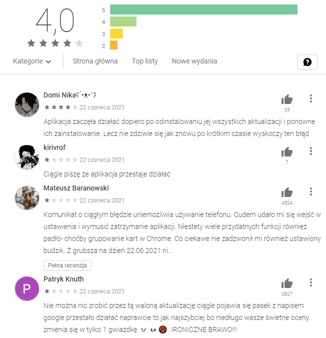 Google Play problem google
